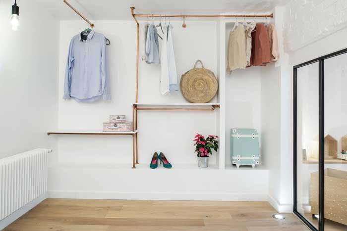 Guarda-roupa aberto: vantagens, como montar e fotos inspiradoras