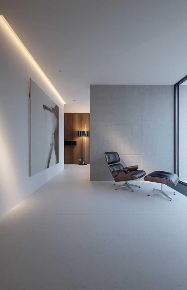 Sanca de gesso moderna e minimalista