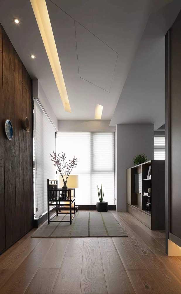 Dê um charme a mais para o corredor da sua casa usando sancas de gesso