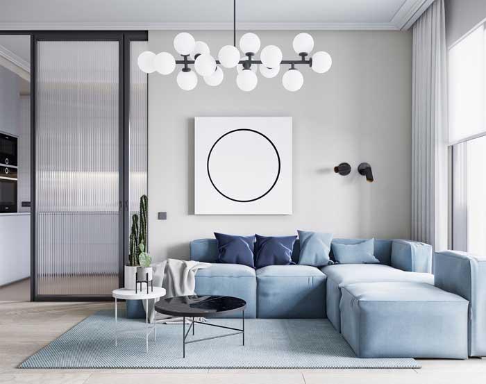 O cortineiro de gesso deixa o visual da cortina mais elegante e esguio