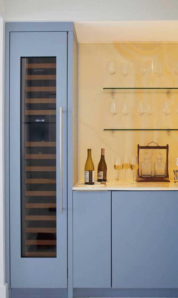 O mix perfeito entre simplicidade e elegância nesse home bar