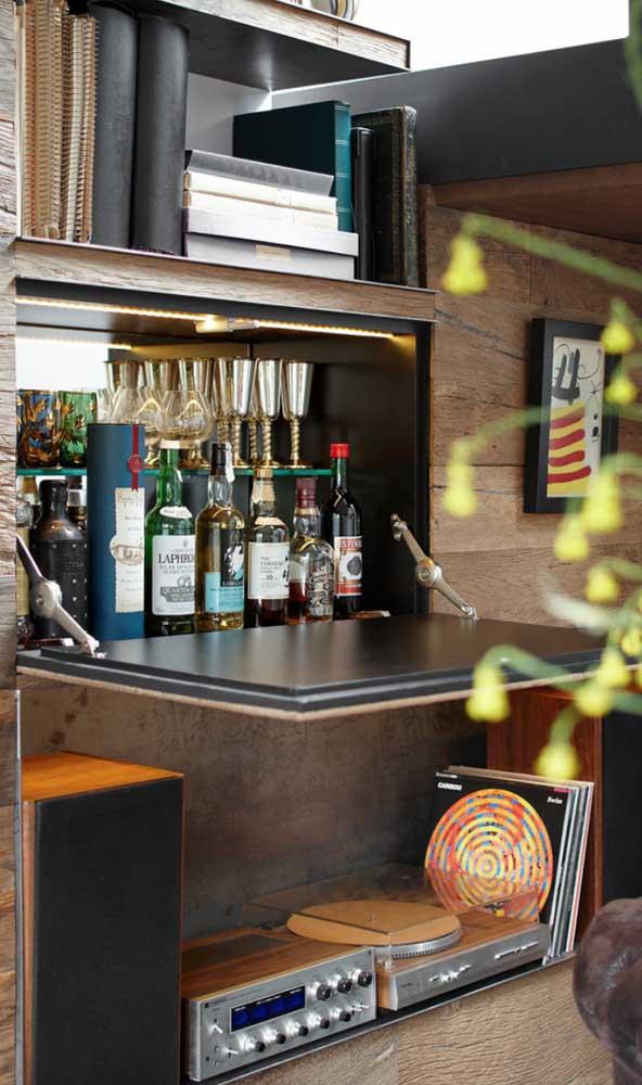 Home bar e música: tudo a ver!