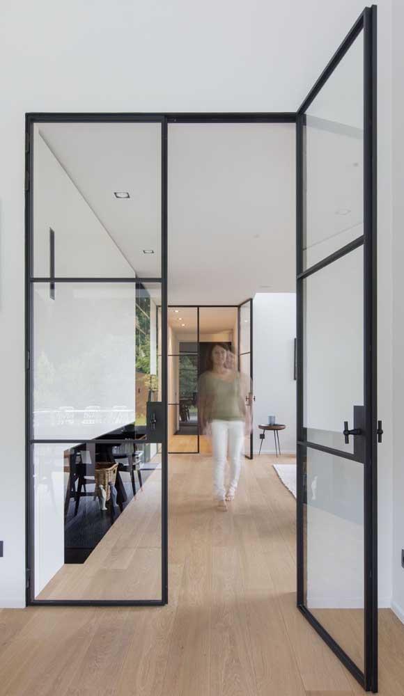 Porta francesa de ferro para a casa de estilo moderno