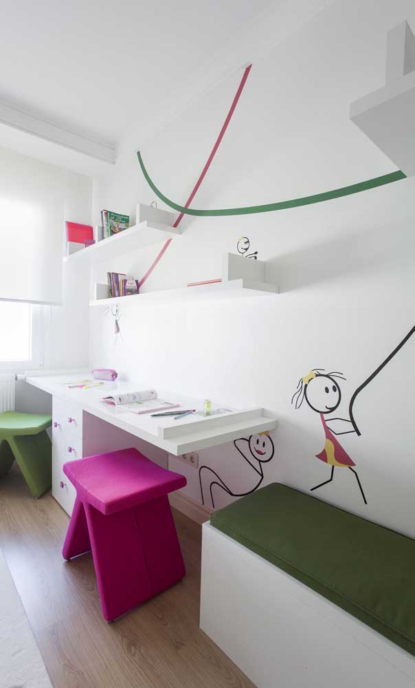 O quarto infantil é outro ambiente da casa que só tem a ganhar com o uso do magenta