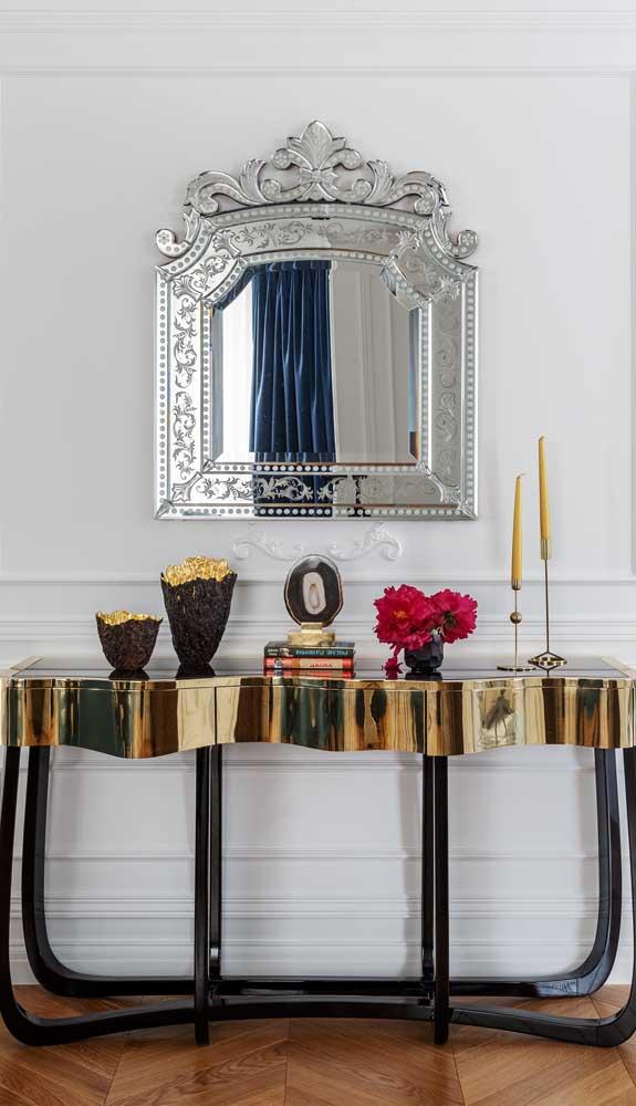 Espelho bisotado à la Luis XV