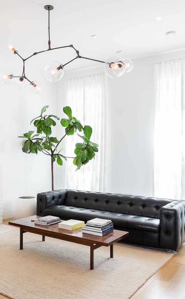 Braços e encosto baixo: outra característica comum dos sofás retrôs