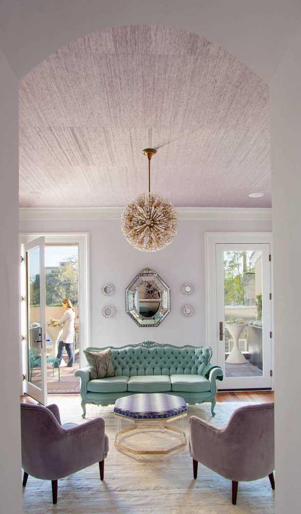 Uma sala de estar digna da realeza