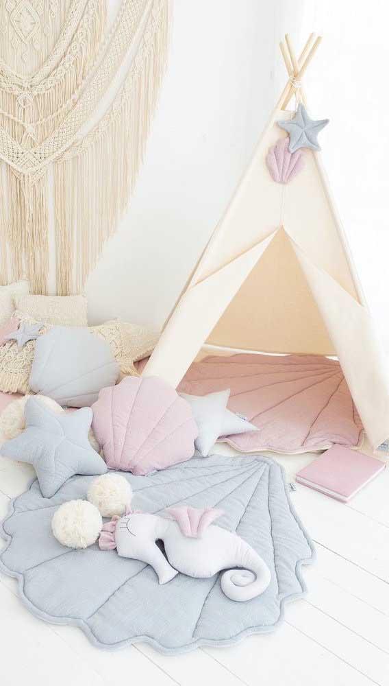 Cabana infantil com inspiração praiana