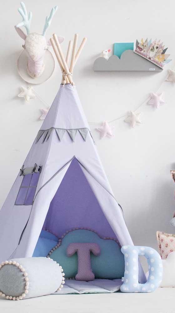 Mesmo que o bebê demore um pouco para usar a cabaninha, já vale a pena deixá-la no quarto, afinal ela é parte da decoração