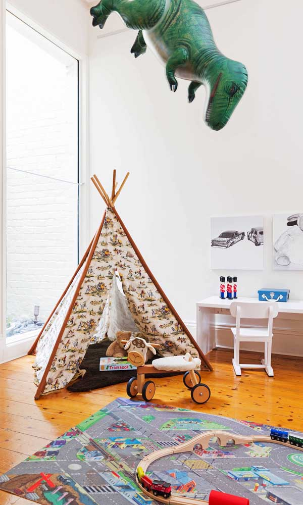 A versatilidade de estampas dos tecidos permite criar cabanas de todos os tipos
