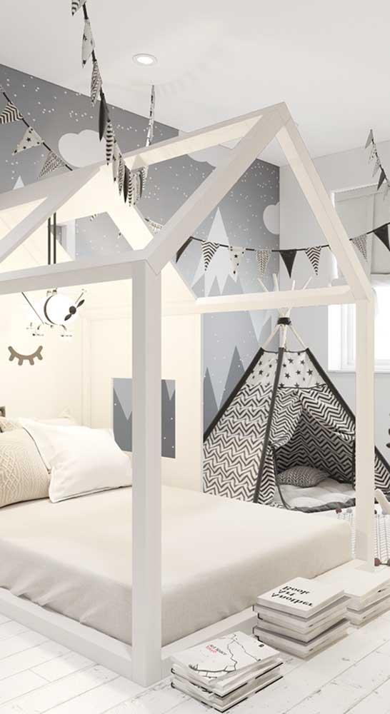 Quarto Montessori com cabana infantil: proposta lúdica e pedagógica