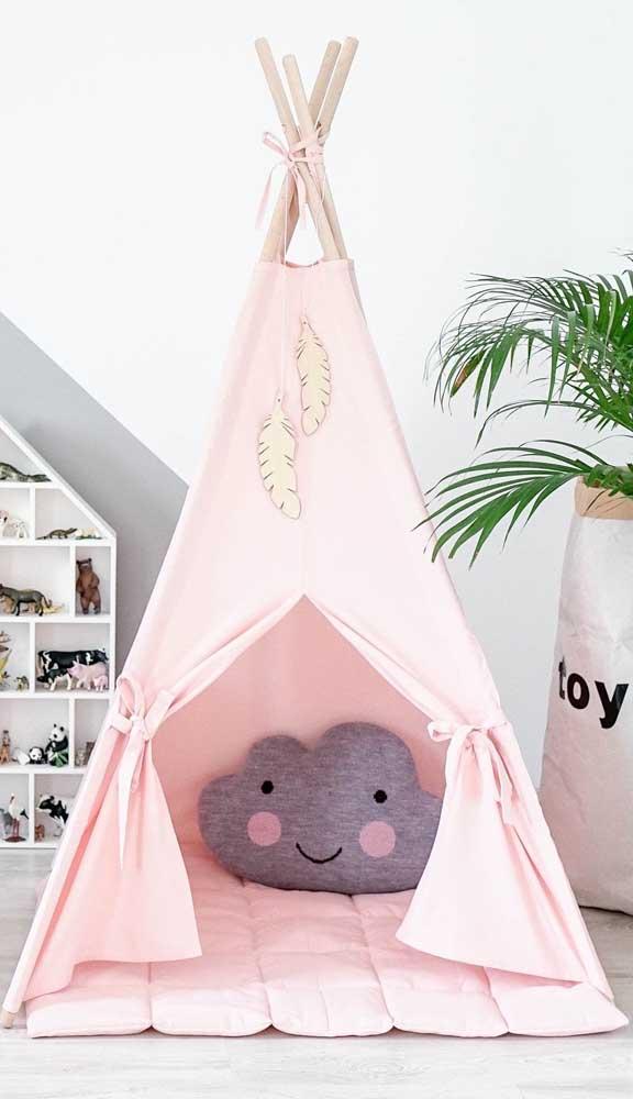 Já para as meninas, a cabana cor de rosa é um clássico!