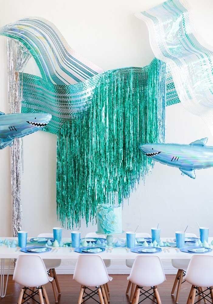 Olha que decoração Baby Shark diferente para servir de inspiração.