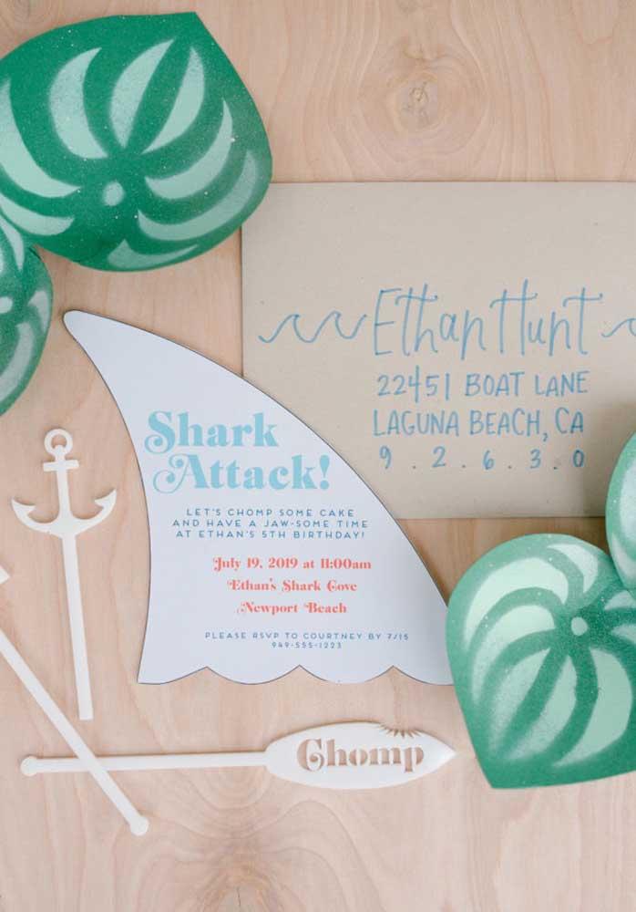 Se inspire no tema Baby Shark para fazer uma decoração diferenciada.
