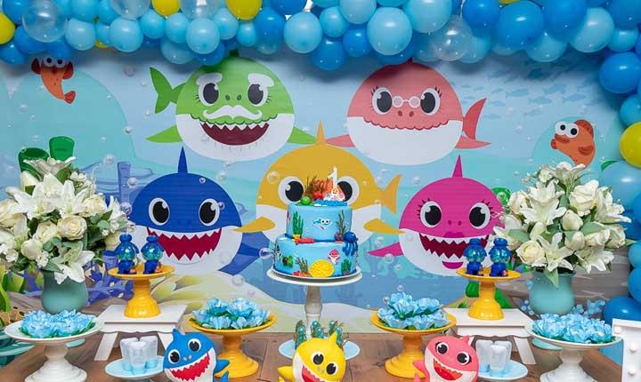 Festa Baby Shark: origem, como fazer, personagens e fotos de decoração
