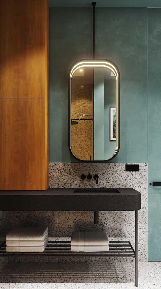 Prateleira aramada para o banheiro moderno