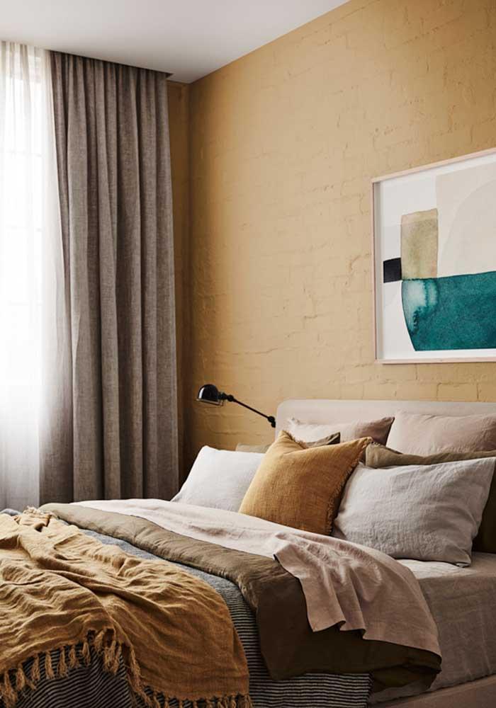 Você pode decorar o quarto com diferentes tons de amarelo.