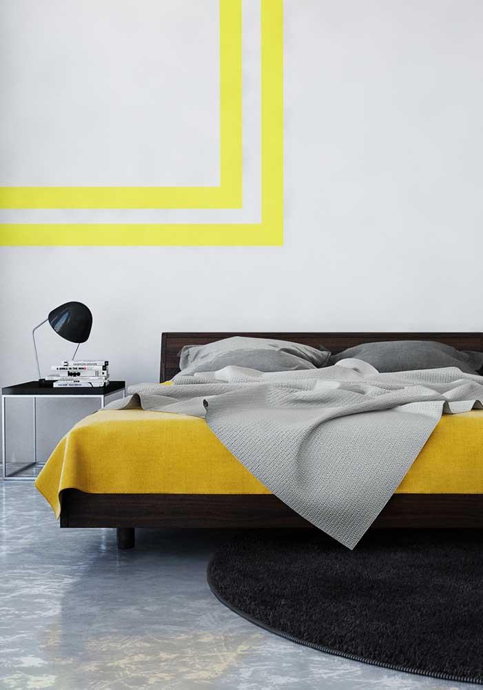 Se você prefere algo mais marcante, pode apostar no amarelo mais vivo.