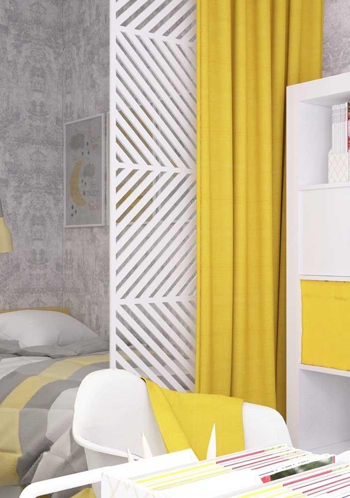 Amarelo e cinza é a combinação mais usada na decoração de quarto.
