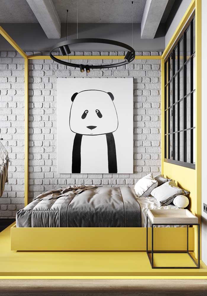 Olha que decoração diferenciada que você pode fazer para o quarto amarelo de menino seguindo um estilo mais moderno.