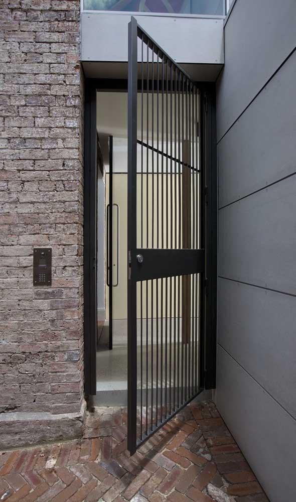O alumínio preto é sempre um coringa, especialmente nos projetos mais modernos