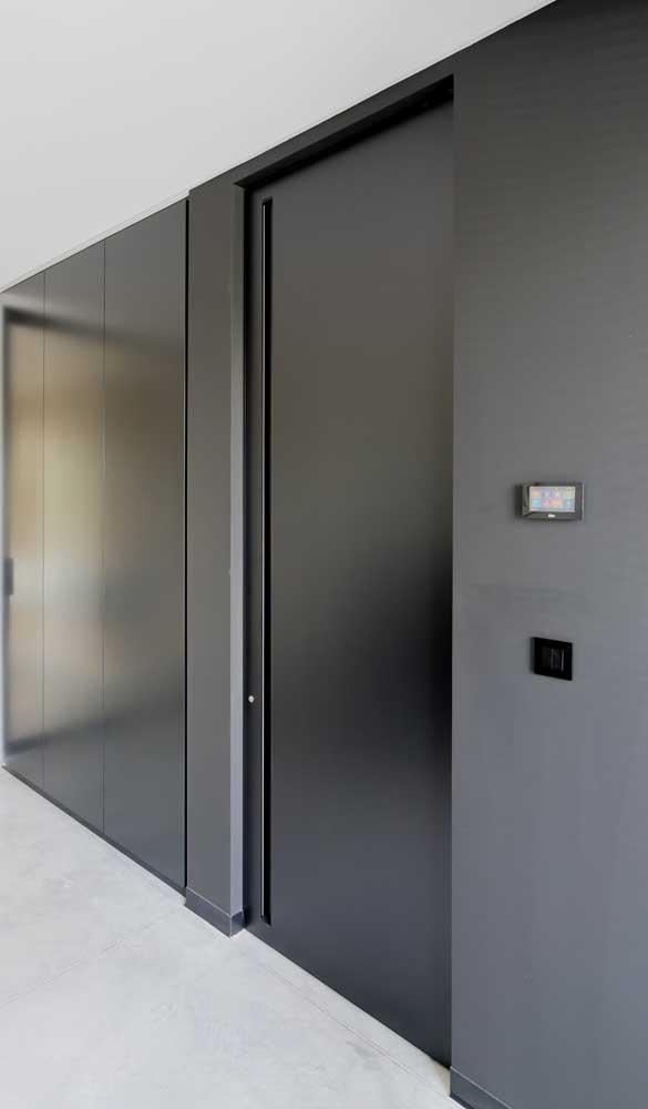 Esse ambiente de estética clean apostou no alumínio preto também!