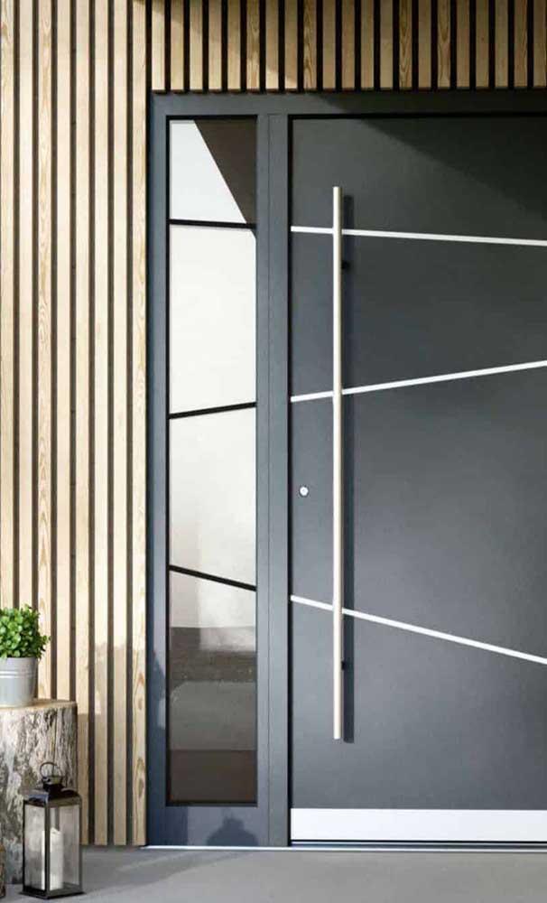 O puxador faz toda diferença na estética final da porta de alumínio