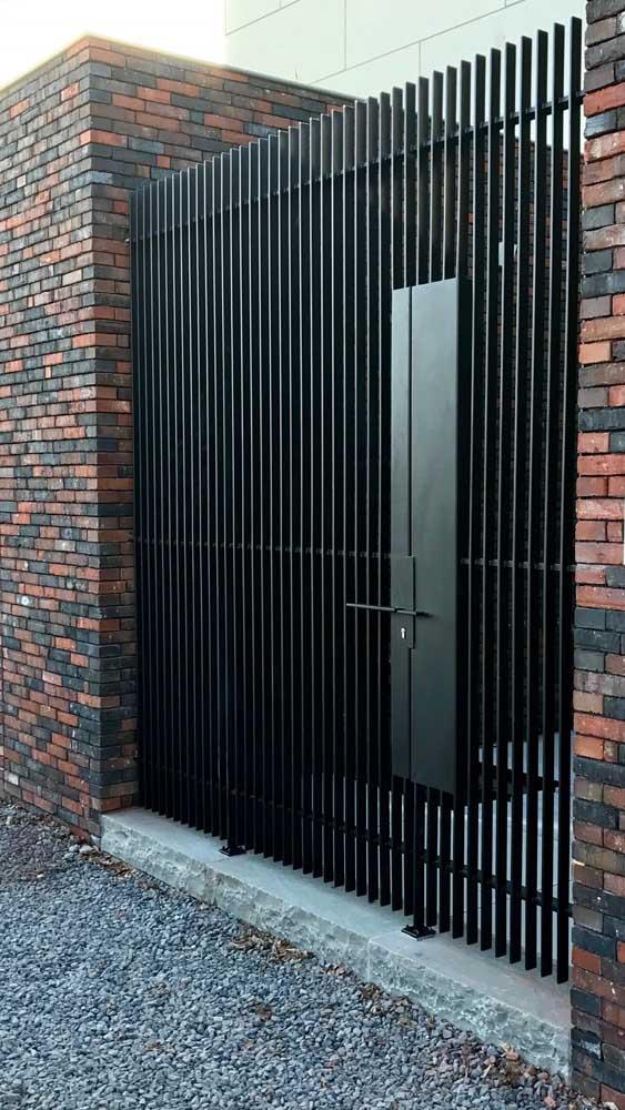 Os portões de alumínio também vêm ganhando espaço
