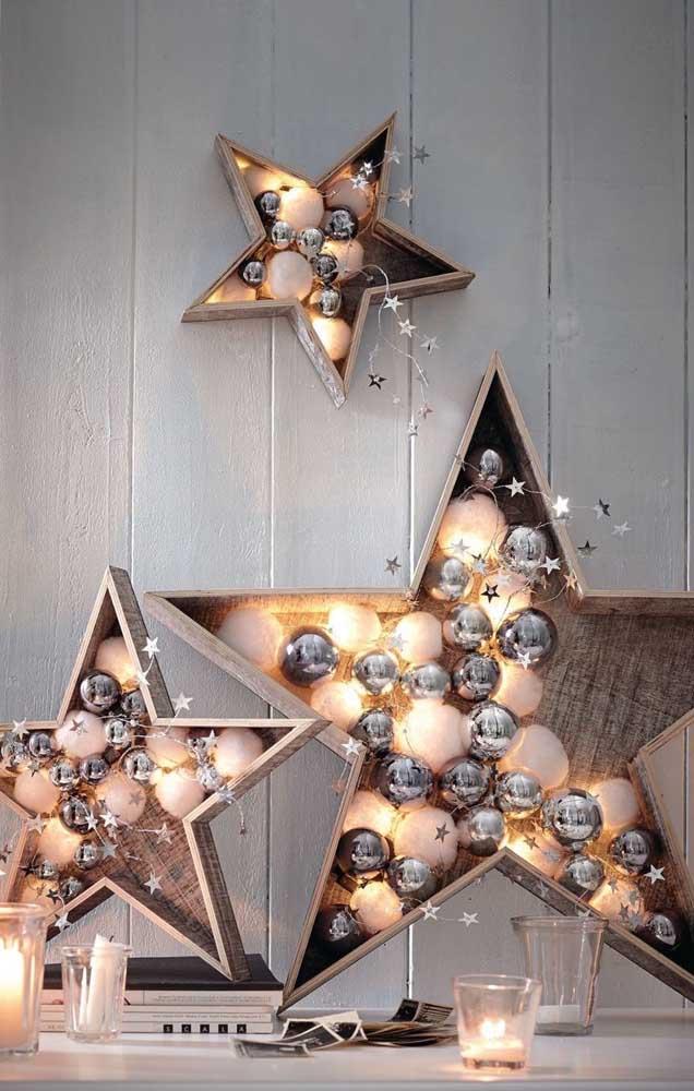 Luzes de natal em formato de estrela!