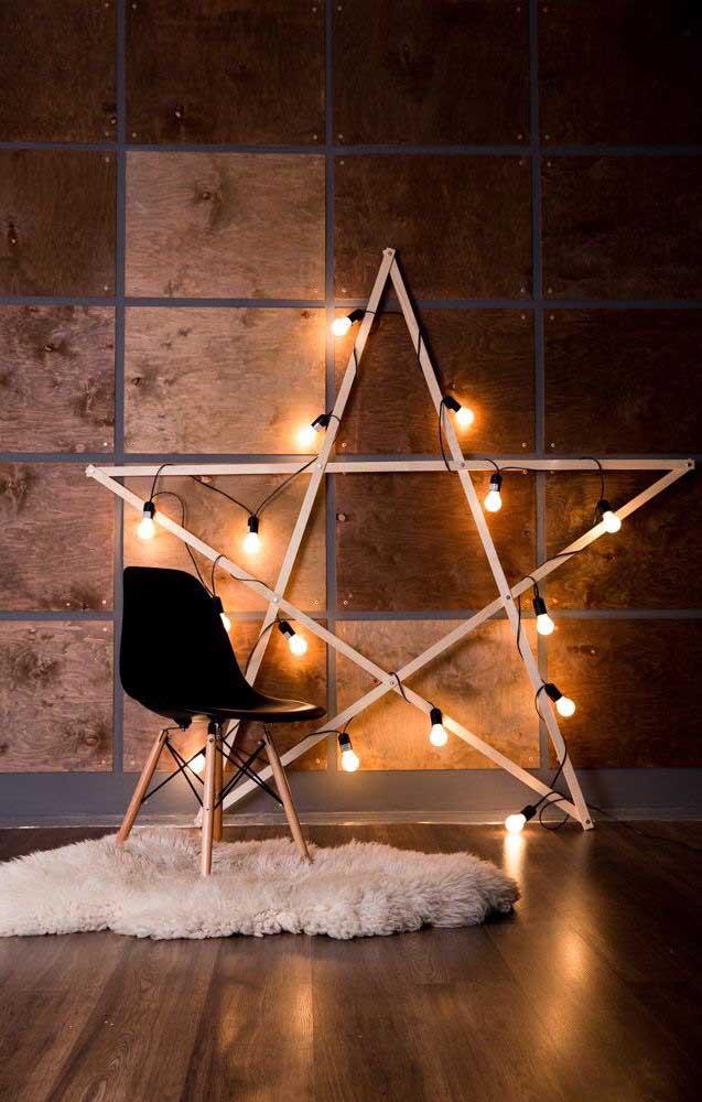 E por falar em estrela, que tal uma dessa bem iluminada para sua sala?