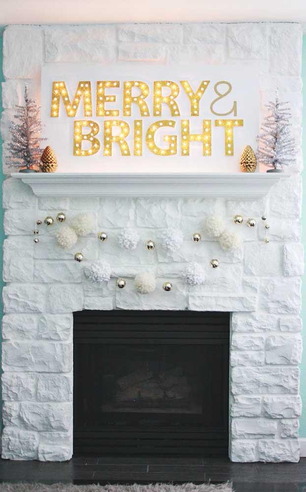 Forme frases e mensagens positivas com as luzes de natal