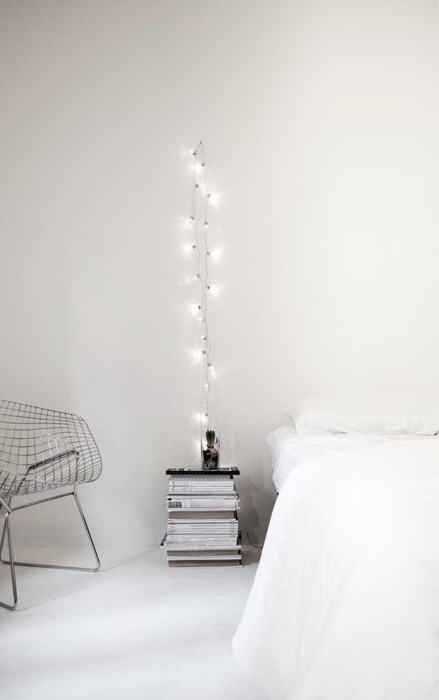 Uma solução moderna e minimalista para as luzes de natal