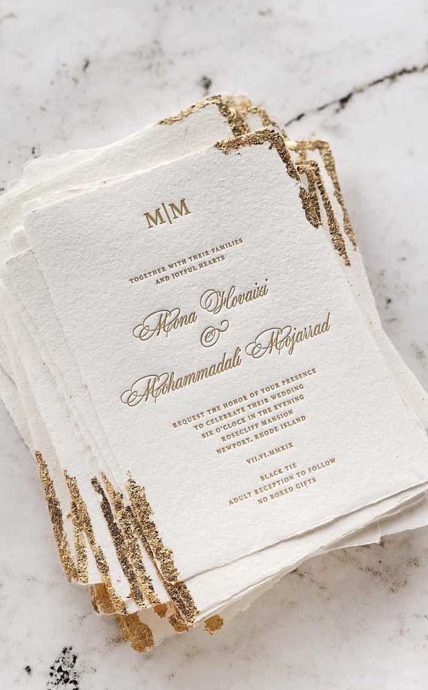 Modelo de convite para festa de bodas de ouro