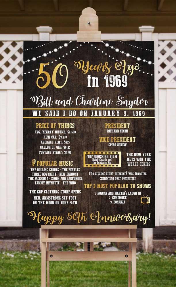 """Que ideia legal! Uma retrospectiva dos fatos que marcaram o ano em que o casal disse """"sim""""!"""