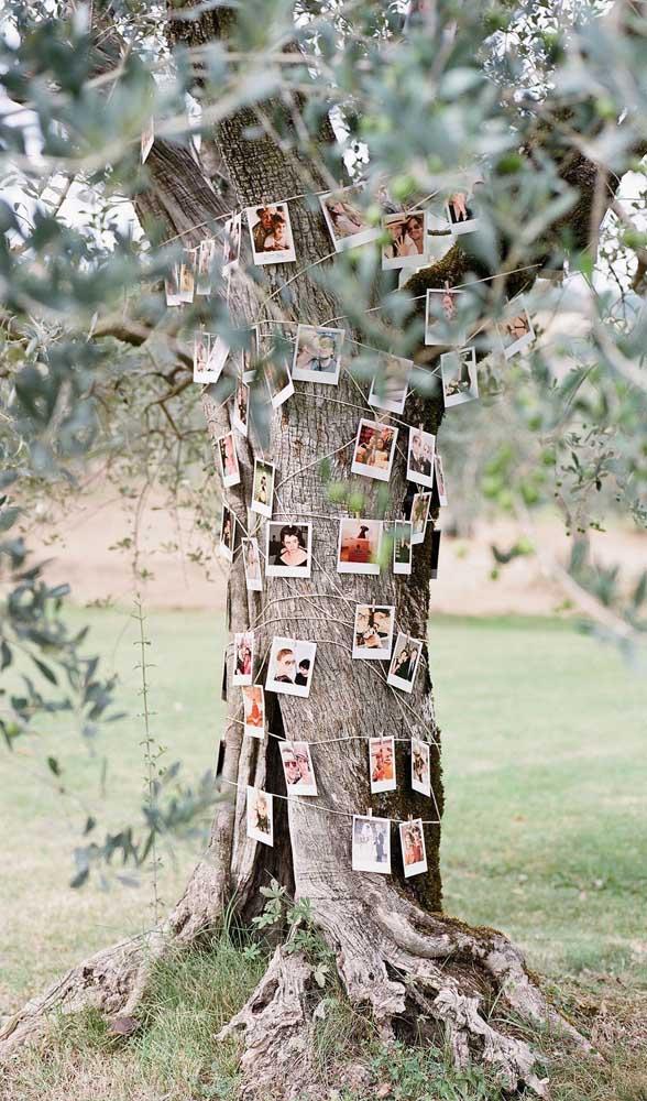 As fotos que contam a história do casal não podem faltar na festa