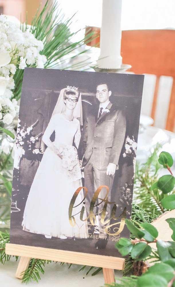 Muito menos a foto tirada no dia do casamento, há 50 anos atrás