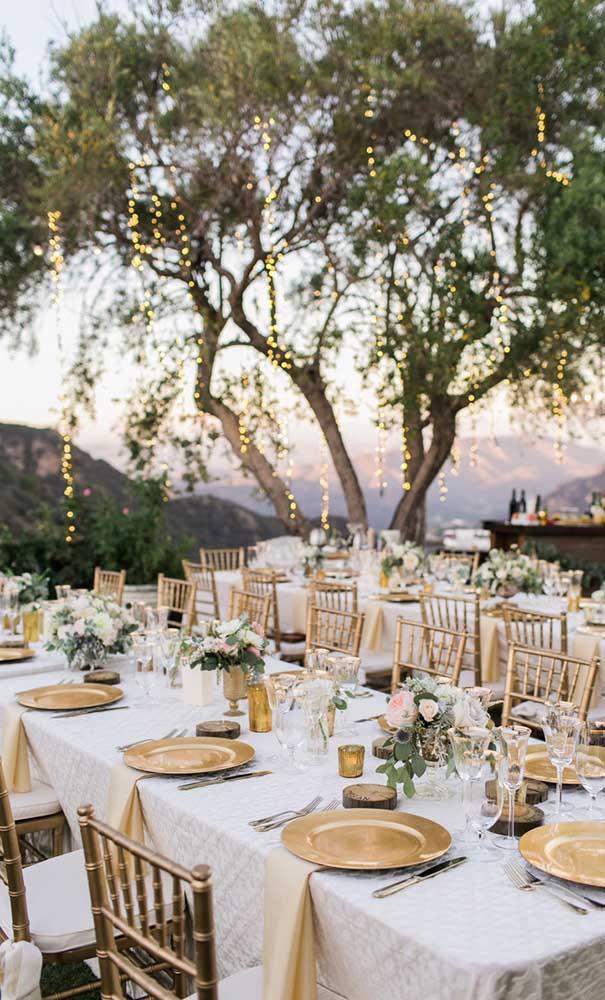 A natureza como cenário principal da festa de bodas de ouro
