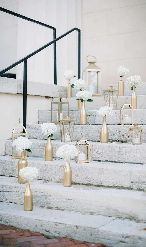 DIY no melhor estilo para a festa de bodas de ouro