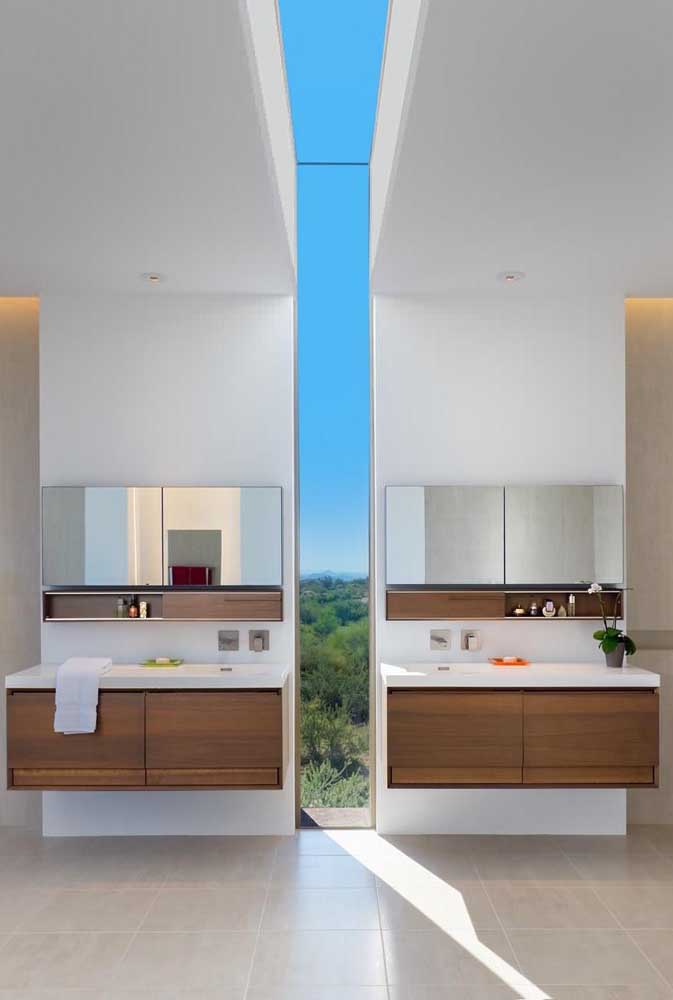 E se ao invés de janela você optar por uma abertura na parede e no teto?