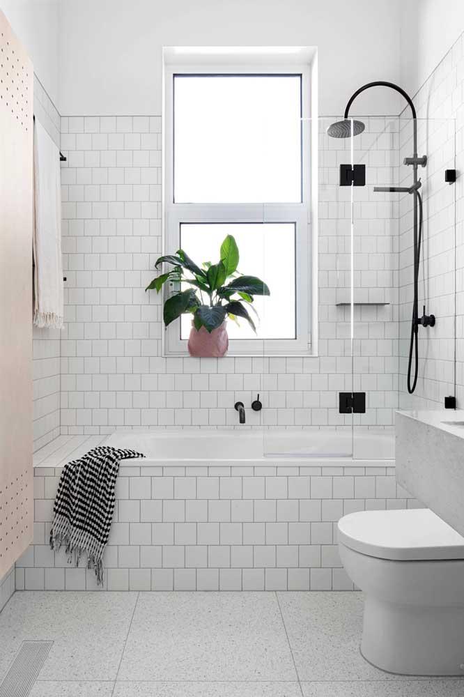 As plantas também se beneficiam das janelas para banheiro