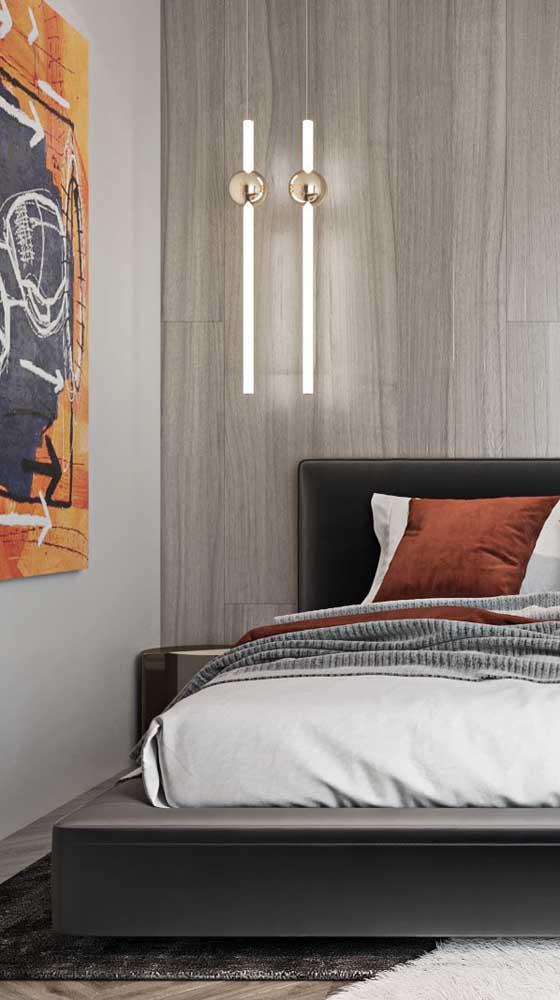 Um modelo simples, mas cheio de estilo para o quarto