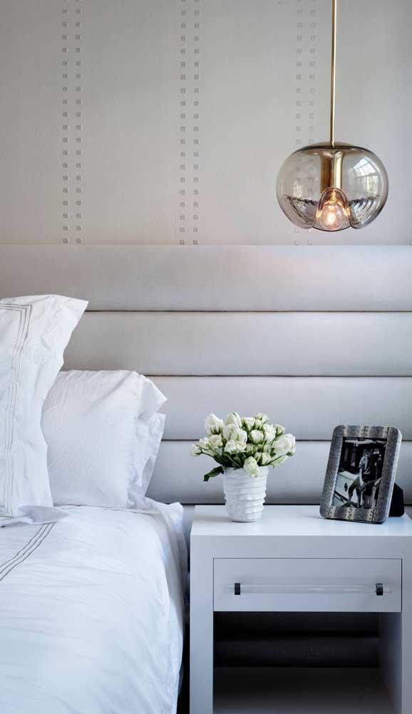 Luminária pendente de vidro para o quarto clássico e elegante