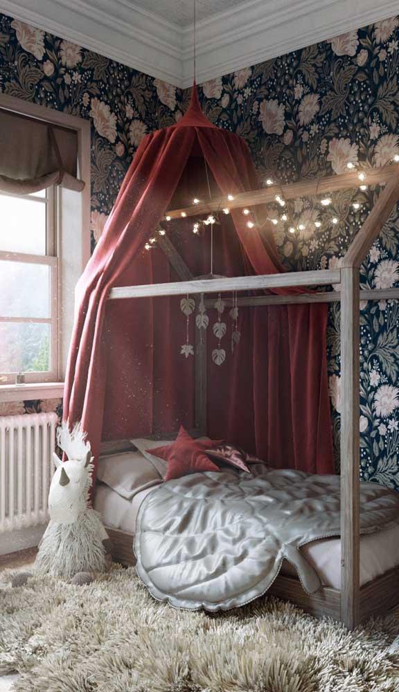 O quarto infantil também pode se render aos encantos do marsala