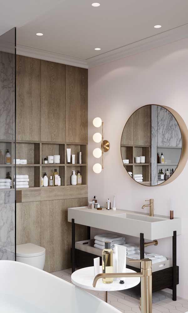 Sanca de isopor no banheiro: sem mofo, nem manchas