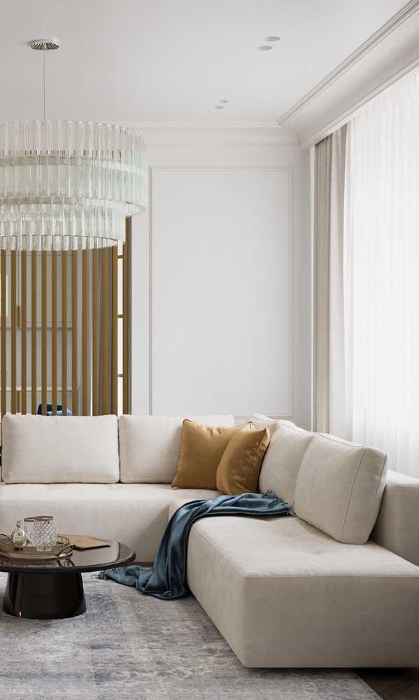 Modelo clássico e tradicional de sanca com cortineiro para você se inspirar
