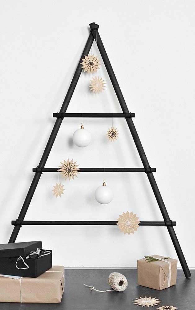 Versão ainda mais minimalista da árvore de natal de parede