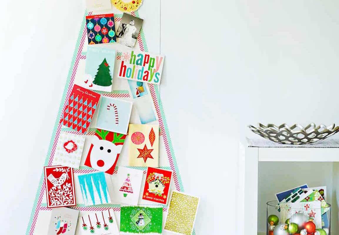 Árvore de Natal de parede: como fazer e 60 modelos inspiradores com fotos