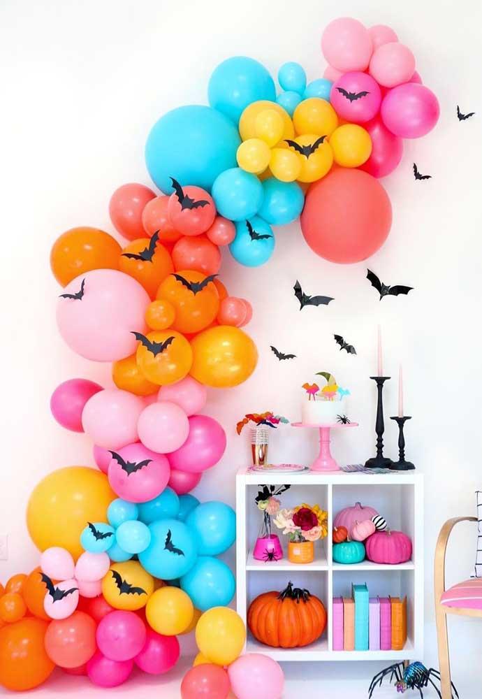 Muitas cores para um Halloween divertido e alegre