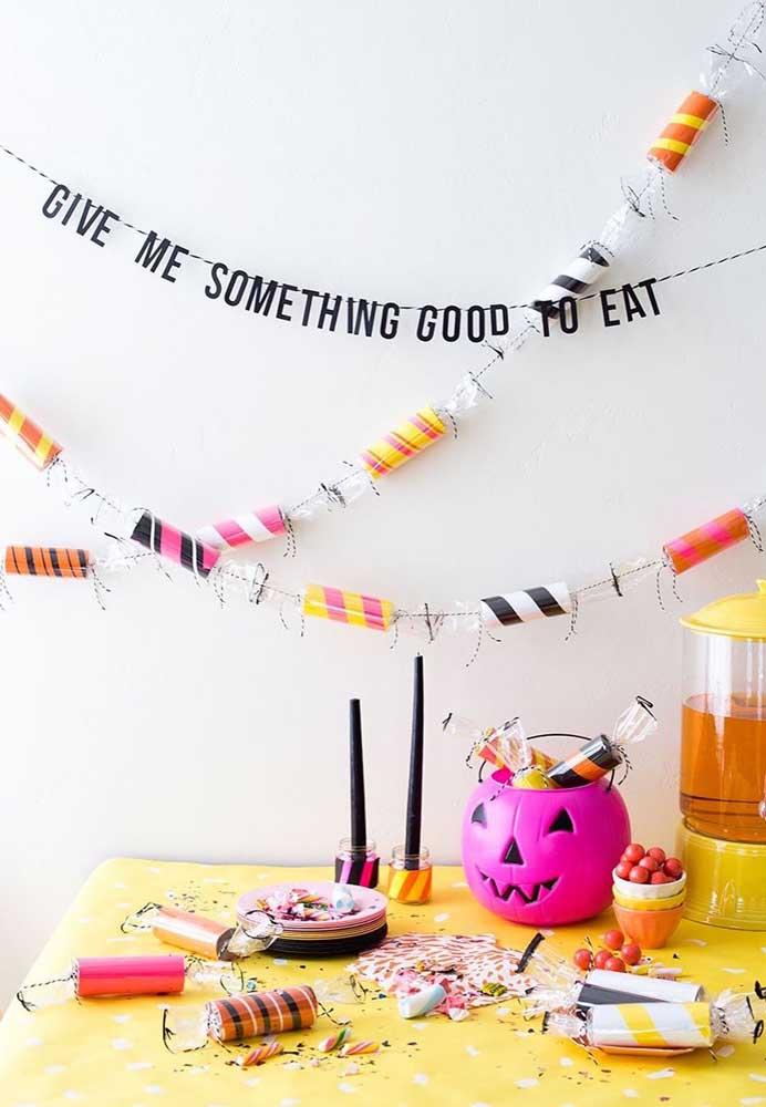 Frases espirituosas também entram na decoração do Halloween
