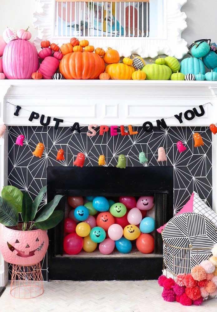 Mesmo todo colorido, o Halloween não perde seu lado amedrontador